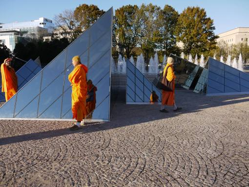 Pyramids and Monks