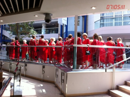 Singers in Red