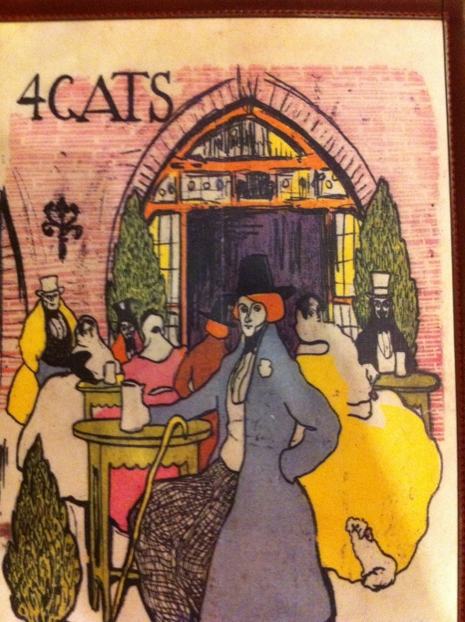 Menu designed by Picasso, at the 4 Cats