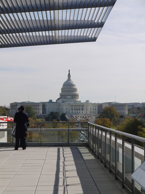 The Capitol building from The Newseum