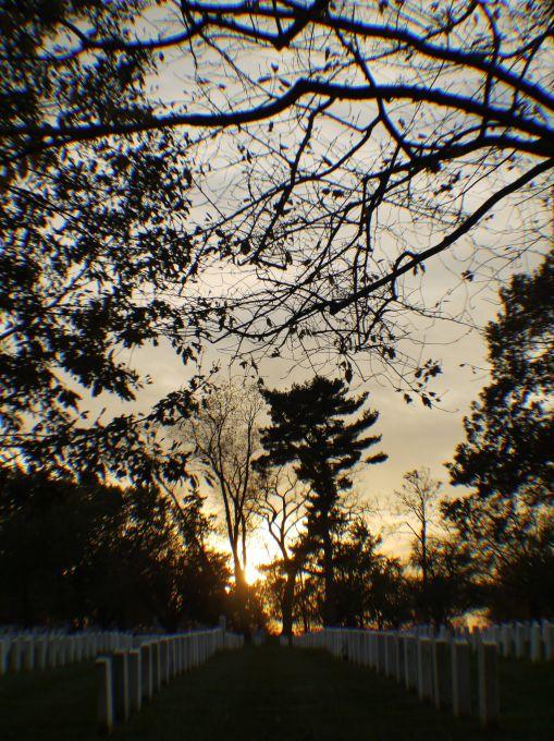Sunset over Arlington Cemetery