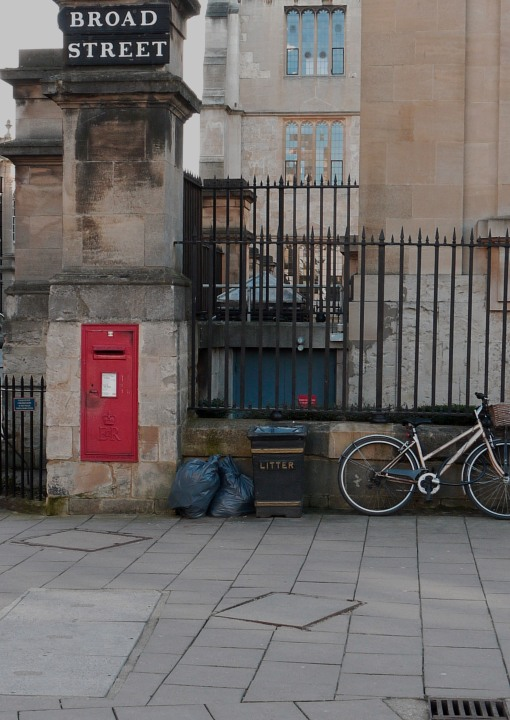 A Post Box and Bicycle in Oxford