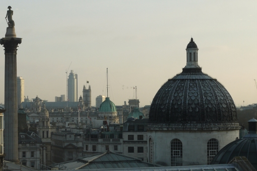 the domes of London, from the National Portrait Gallery