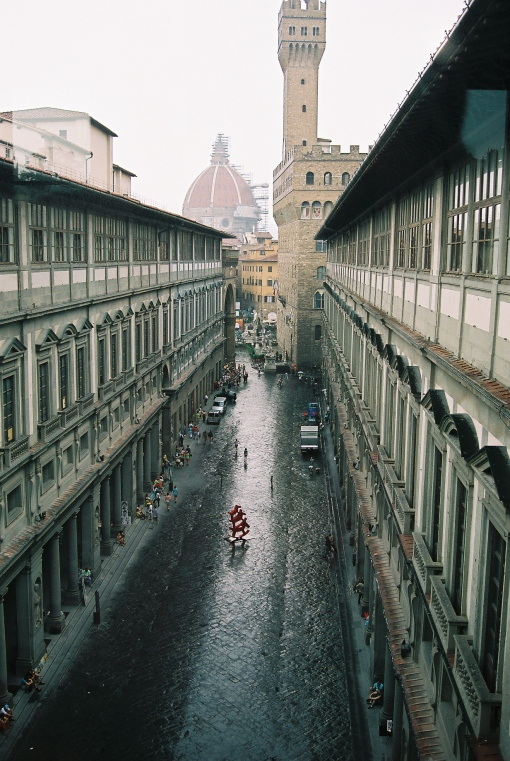 It did rain on the Uffizzi