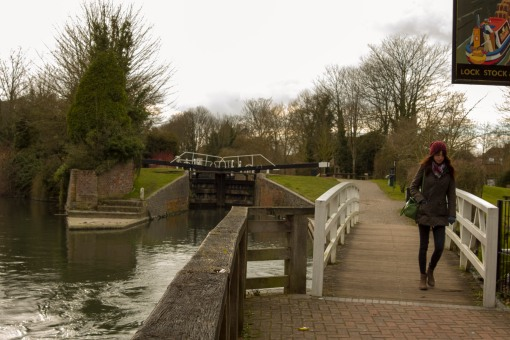 The Lock, STock and Barrel pub at Newbury lock.