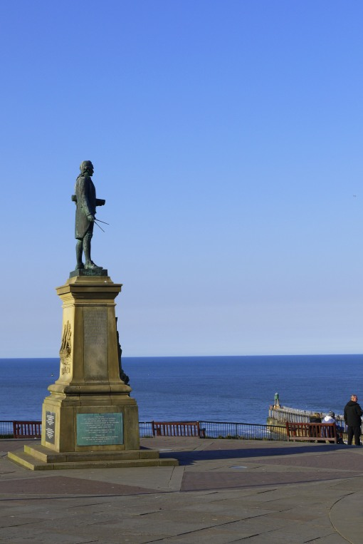 Captain Cook surveys his home town