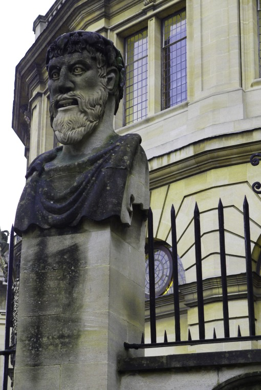 Mysterious Oxford head, and the Sheldonian theatre