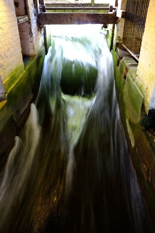 Inside the old mill race!