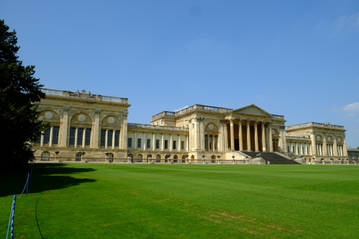 The neo-classical frontage of Stowe House