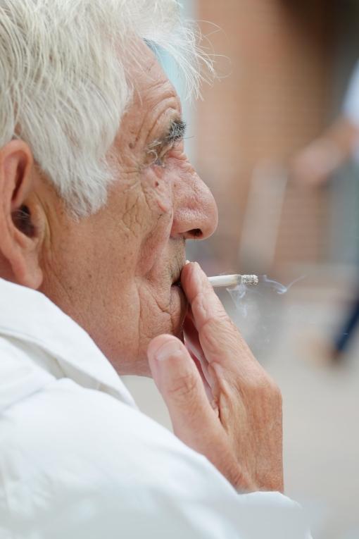 Interesting faces smoking