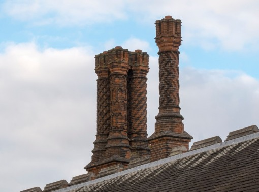 Tudor Red Brick chimneys built for Henry!