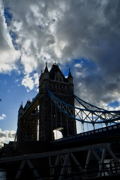 Storm clouds gather over Tower Bridge