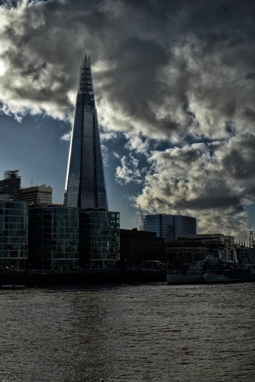 The Shard touches the clouds!