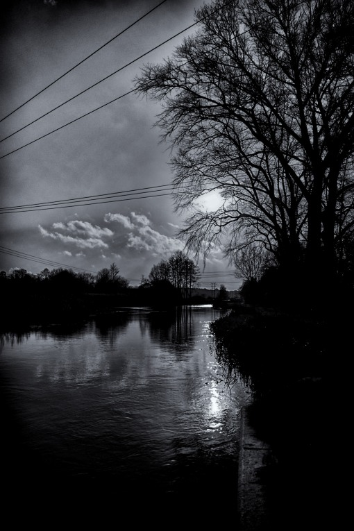 Cold by the canal...