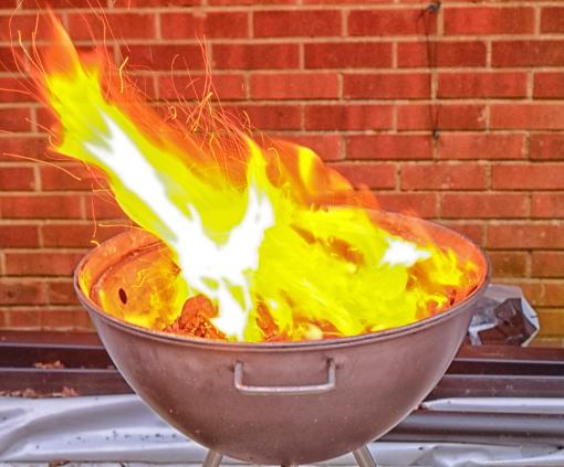 Flames....