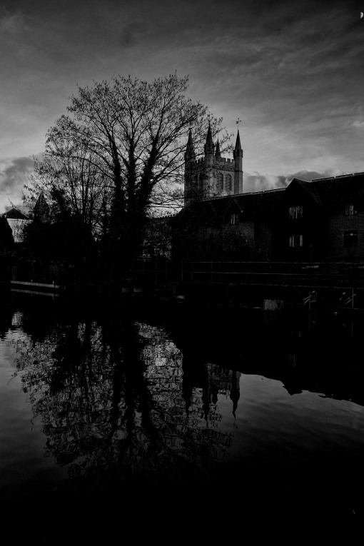 Church, Canal and Tree