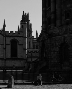 Student and spires
